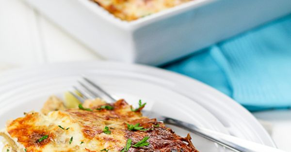 Cheesy Chicken Artichoke Lasagna! Yum! chicken artichoke lasagna recipe