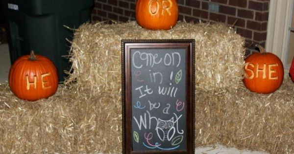 Gender Reveal Fall Theme Owl~ Whooo Will It Be