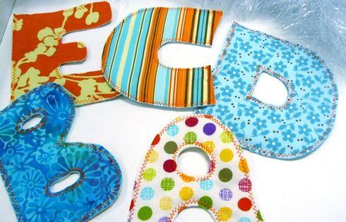 tuto des lettres en tissu pour les enfants id es couture pinterest couture facile. Black Bedroom Furniture Sets. Home Design Ideas