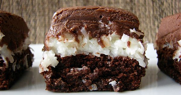 Mounds Brownies Recipe (these are great. I used ghiradelli brownie mix and