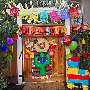 Mexican Party Entrance Decorating Ideas Mexican Party Theme
