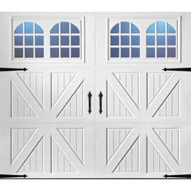Shop Pella Carriage House Series 9 Ft X 7 Ft Insulated White Single Garage Door With Windows At Lowe S White Garage Doors Garage Doors Garage Door Windows