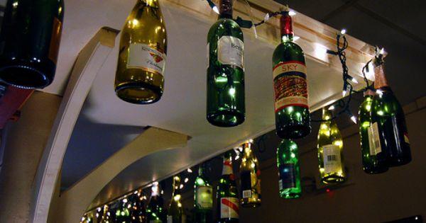 wine bottle crafts   DIY wine bottle crafts / Fun outside wine