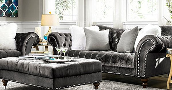 Visit A Raymour Amp Flanigan Furniture Store Or Go To Raymourflanigan Com To See Amp Learn How To Decorate Aro Furniture Living Room Grey Living Room Decor Reymon y flanigan living room