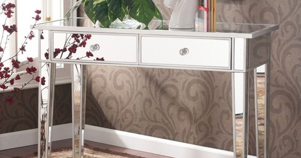 Upton home dalton mirrored accent table overstock shopping great deals on upton home coffee - Mirrored console table overstock ...