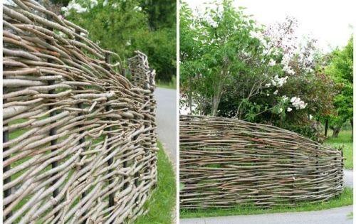 ideen weidenzaun-gartenzaun gestaltung | garten | pinterest, Gartengestaltung