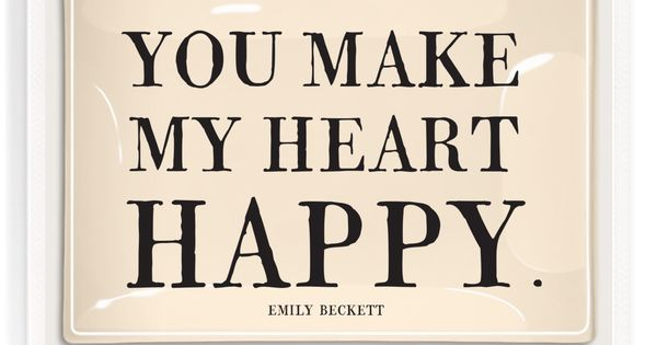 You Make My Heart So Happy Decoupage Glass Tray | To tell ...