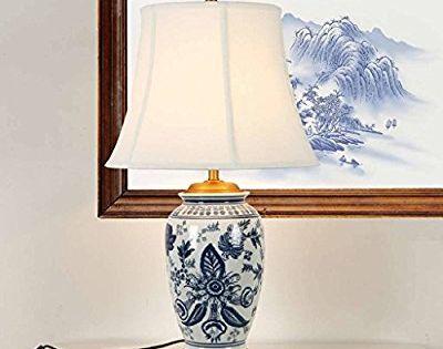 Chinois Classique Bleu Et Blanc En Ceramique Etude De Salon De Lampe Lampe Decorative Creative Peinte A La Main Amazon Fr Luminaires Et Lamp Home Decor Decor