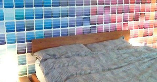 50 fun things to do with paint chip samples wallpaper for Creative things to do with paint