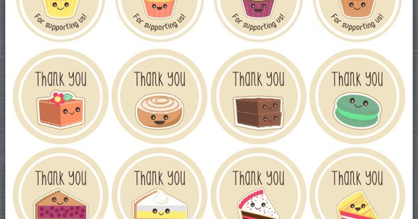 Thank You For Baking: Bake Sale Thank You Stickers