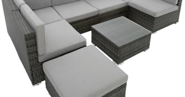 Rattan Lounge Mit Stahlgestell Venedig Schwarz Rattan Lounge