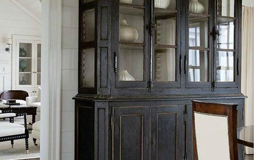 grand vaisselier d 39 poque peint en noir kitchen dresser pinterest vaisselier peint. Black Bedroom Furniture Sets. Home Design Ideas