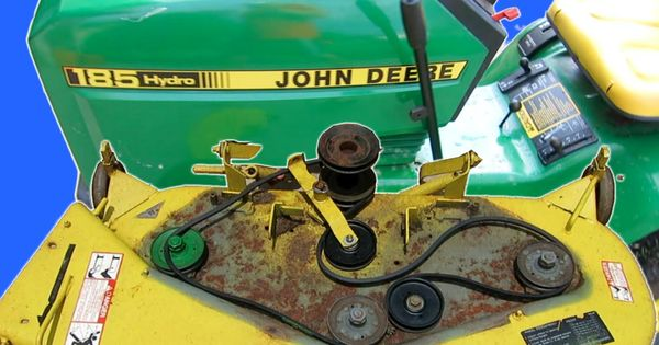 how to clean a riding lawn mower deck