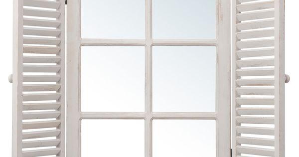 Miroir fen tre maisons du monde 59 90 pour la chambre id es d 39 achats pinterest for Idee deco spiegel