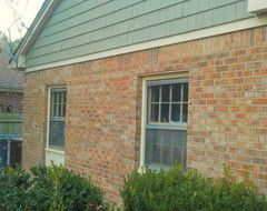 Trim Colors For Dated Orange Brick Houzz House Paint Color Combination Orange Brick Orange Brick Houses