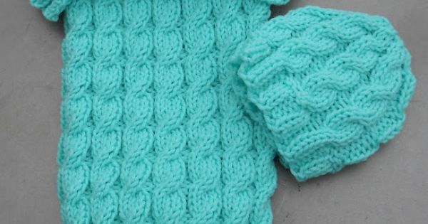 Knit Baby Cable Sleep Sack Amp Hat Hmmm I Am Getting
