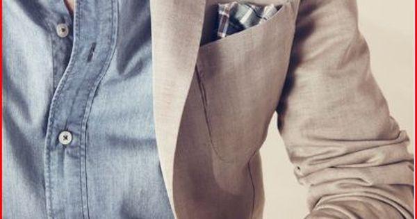 Denim shirt, plaid pocket square || casual streetstyle menfashion menstyle Menswear men