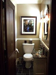 Tiny 1 2 Bathroom Ideas Google Search Powder Room Small Bathroom Design Small Bathroom Decor