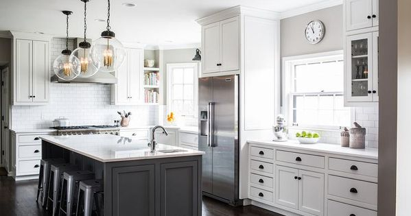 kitchen cabinets pulls and knobs white and gray kitchen features white cabinets adorned 8124