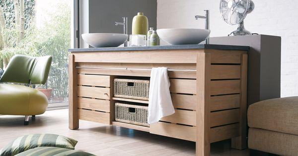 Line Art Vanities : Line art origin double bowl bathroom vanity in solid teak