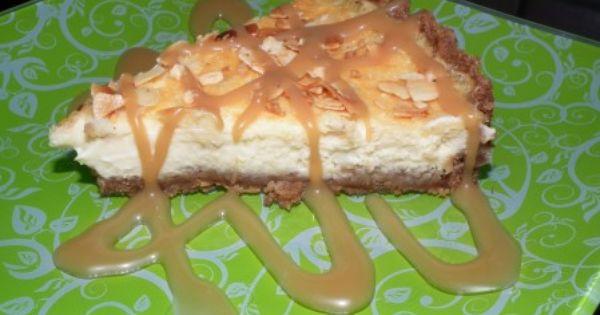 Cheesecake mascarpone et sauce aux bonbons caramel Lutti ...