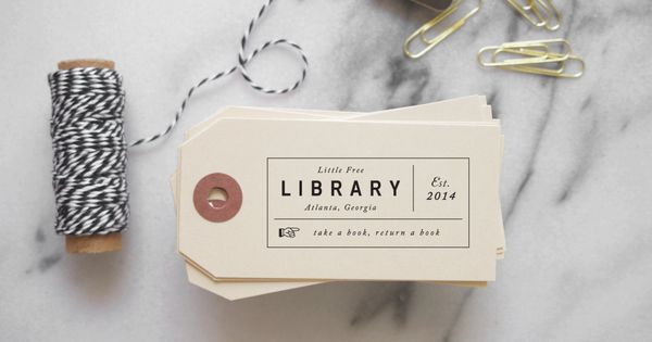 Little Free Library Rubber Stamp From The Library Of