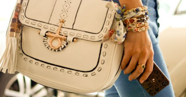 #cute white purse