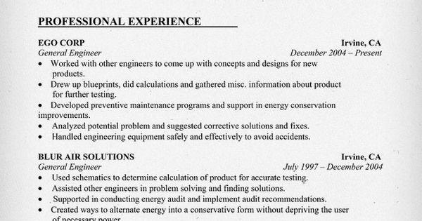 General Engineering Resume Sample (resumecompanion.com