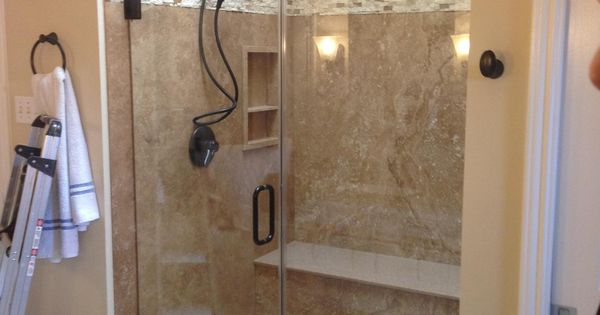 Beautiful natural forzastone shower ba o pinterest for Armario ducha