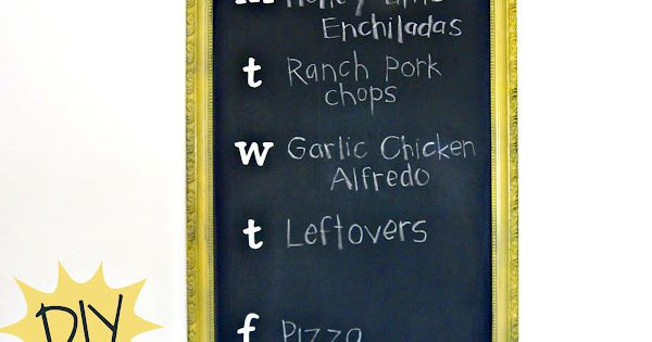 DIY Chalkboard Menu Planner Tutorial