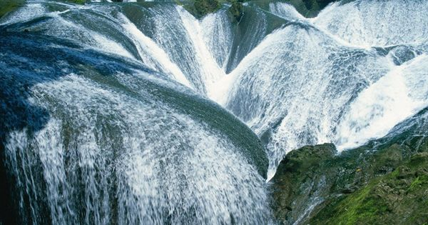 The Pearl Waterfall, Jiuzhaigou Valley, China via The Cool Hunter - Amazing