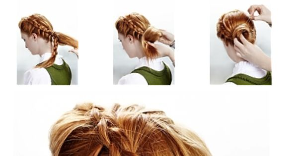 Style your hair in a romantic way for Oktoberfest diy hairstyle tutorial