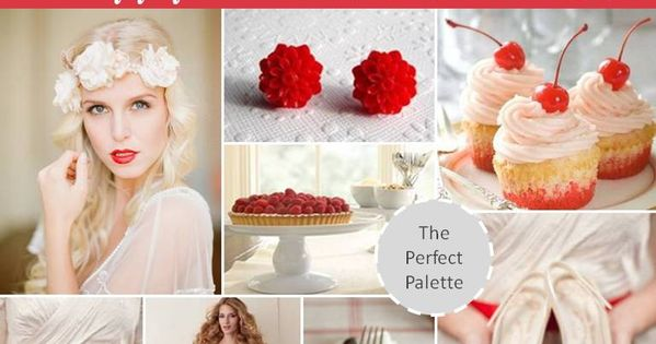 Pantone Poppy red wedding inspiration board