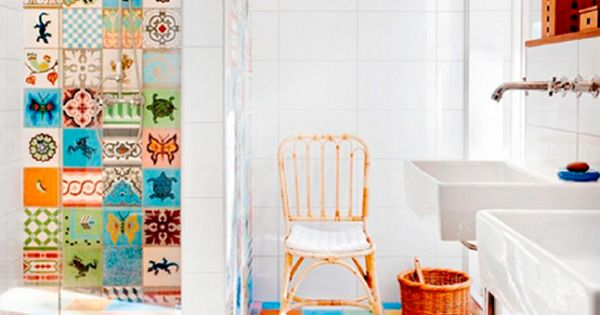 Baldosas decorativas para cuartos de ba o cer mica for Baldosas decorativas
