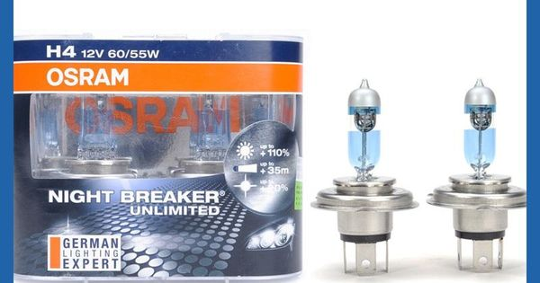 Osram H4 3900k Night Breaker Unlimited 12v 60 55w Auto Headlight Bulbs Super Bright Upgrade Lamps For Toyota 64193nbu Headlight Bulbs Car Headlights Bulb