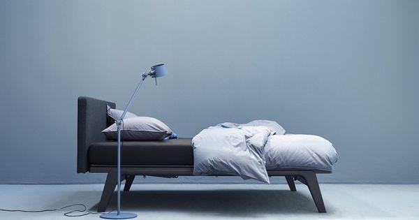 Auping original bed met hoofdbord stof perscentrum wonen a sleep design bedden pinterest - Ontwerp hoofdbord ...