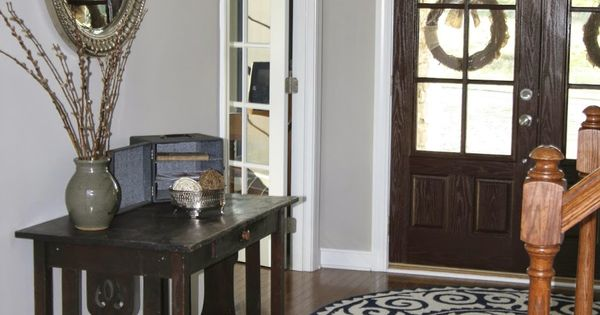 Entryway Paint: Revere Pewter (Benjamin Moore). I like the floor color too.  CT Home ...