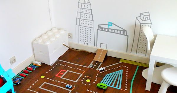 Habitaciones infantiles decoradas con washi tape washi - Habitaciones infantiles decoradas ...