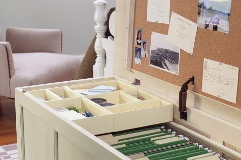 repurposing old trunk - great idea for a filing cabinet!! @Chelsea Ferguson