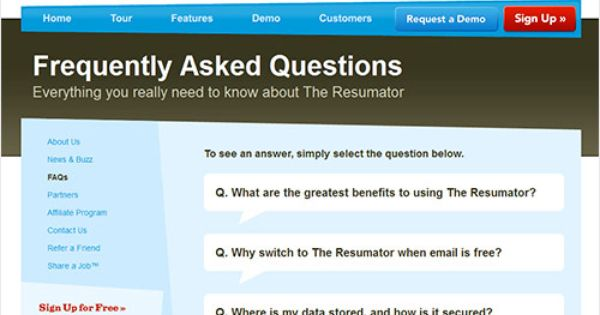 Ensuring An Effective User Experience On Your FAQ Page   The Resumator  The Resumator