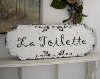 Bon Appetit French Kitchen Signs Shabby Vintage Style 14 X Etsy Bathroom Signs Shabby Chic Toilet Shabby Chic Bathroom