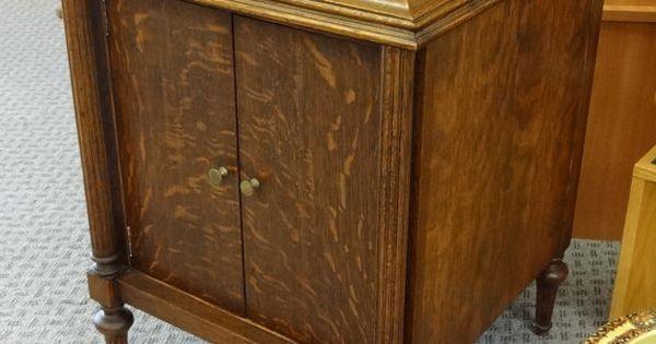 Antique tiger oak music cabinet by disndatvintage on etsy for Furniture 0 interest