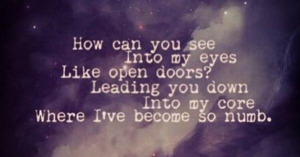 Bring me to life lyrics minus one