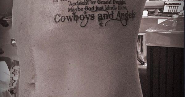 Cowboys and Angels Tattoo (Bleeding Cowboy Font/2nd Verse ...