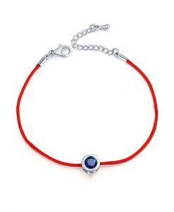 Bracelet Swarovski Zirconia cordon rouge argent   Bijoux tendance ...