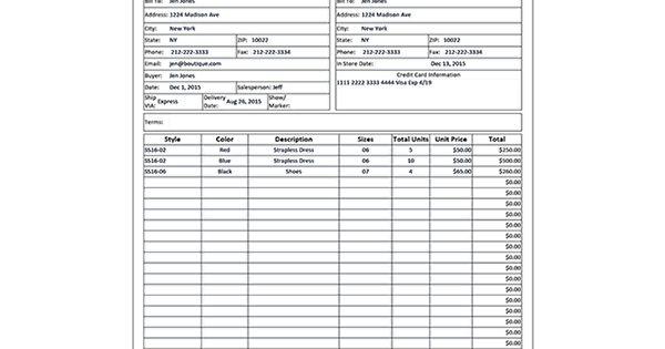 wholesale line sheet template order form and crafts. Black Bedroom Furniture Sets. Home Design Ideas
