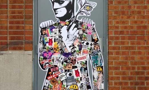 World graffiti urban art stikki peaches stickers for Audrey hepburn mural los angeles