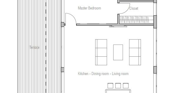 Interesting layout surprise bedroom at the back utility room in the front narrow house plan - Small narrow house plans minimalist ...