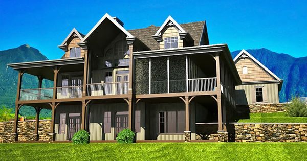 floor plan with wrap around porch house plans mountain house plans