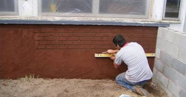 How To Make Stucco Look Like Brick How To Make And Bricks